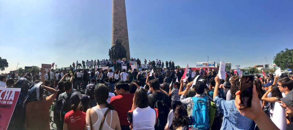 Protestas en México por la desaparición de los cuatro estudiantes de la Universidad de Guadalajara