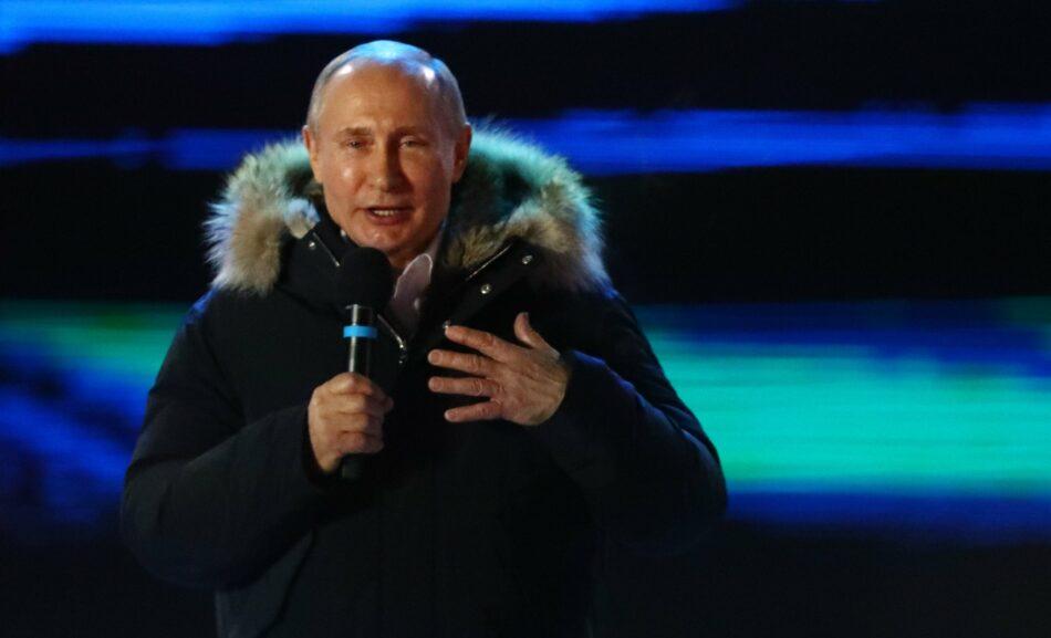 Vladimir Putin se proclama vencedor de las elecciones presidenciales rusas