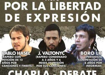 Acto por la libertad de expresión con Hasel, Valtonyc y Boro: 18M