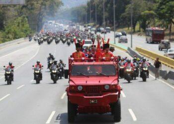 Homenajearon a Hugo Chávez a 5 años de su traslado desde la Academia Militar al Cuartel de la Montaña