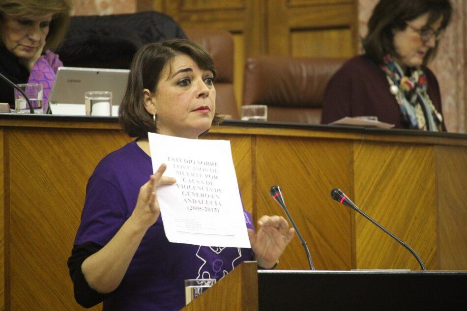 IU anima a Susana Díaz a aprovechar su cita con las convocantes del 8M para que les explique por qué aprueba la Ley contra la Violencia de Género sin presupuesto