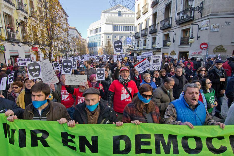 Colectivos de todo el Estado se movilizarán el 17 de marzo en rechazo a la Ley Mordaza