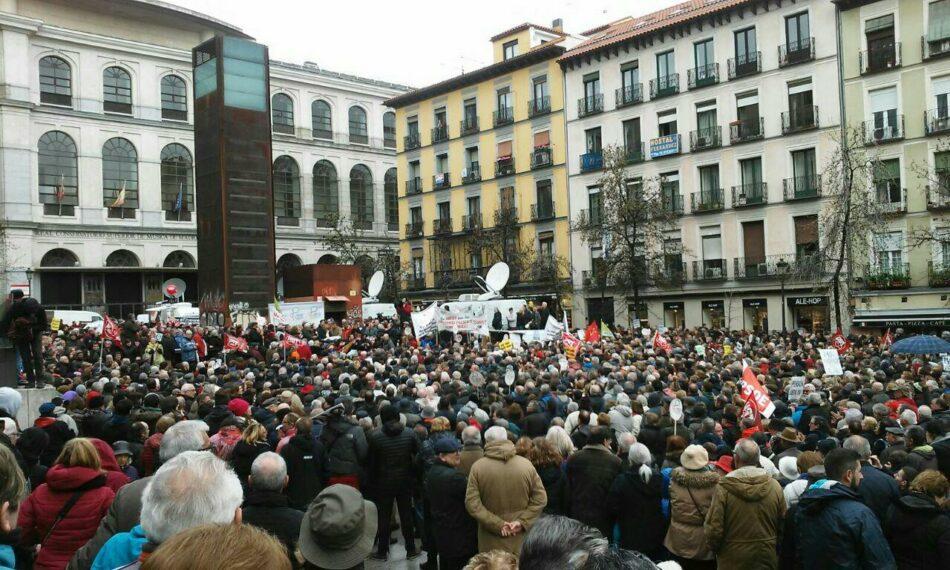 Más de un centenar de manifestaciones recorren el país en defensa de las pensiones públicas