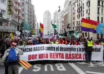 Decenas de colectivos se dan cita en Madrid en la conclusión de la I Marcha Básica
