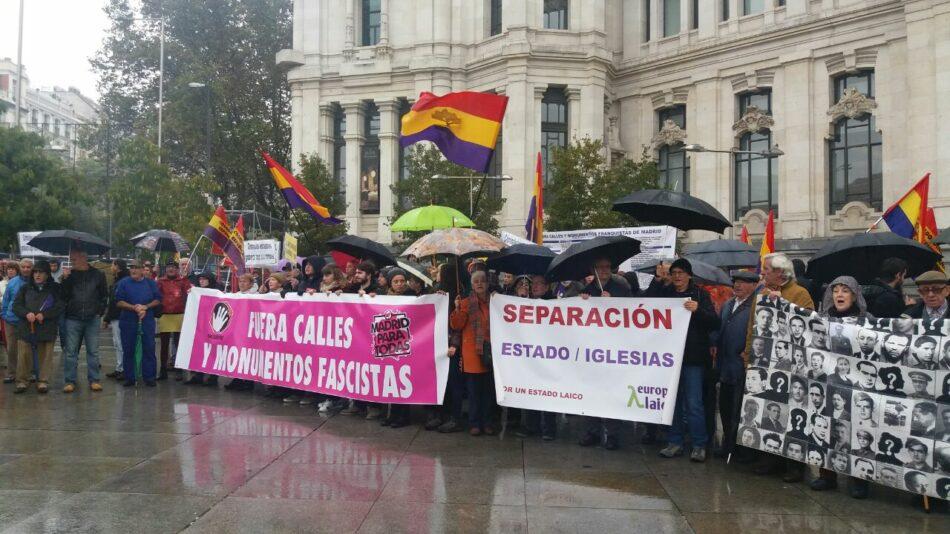 Admitida la contestación a la demanda de la Fundación Francisco Franco por parte de colectivos madrileños de Memoria Histórica