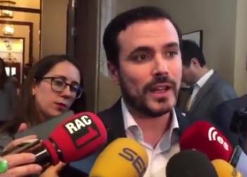 """Alberto Garzón ratifica que """"se está vulnerando la libertad de expresión con ánimo de proteger a la Casa Real"""" tras la sentencia en este sentido del Tribunal Europeo de Derechos Humanos"""
