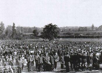 12a Marcha de Borredon protesta contra un proyecto de ganadería porcina en el lugar que ocupara el campo de concentración de Judes
