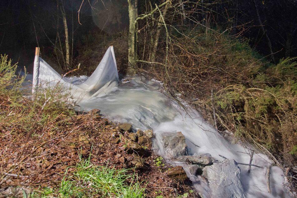 Aldea Viva denuncia un nuevo desastre ambiental en la mina de Touro