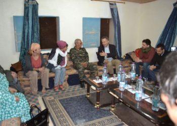 El presidente de la República Árabe Saharaui Democrática recibe a una delegación de diputados españoles
