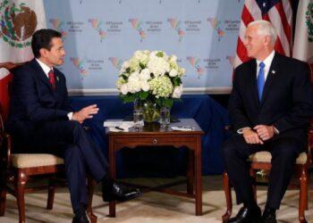 México-EEUU. Peña Nieto y Mike Pence se reunieron en Lima pero evitaron hablar del muro