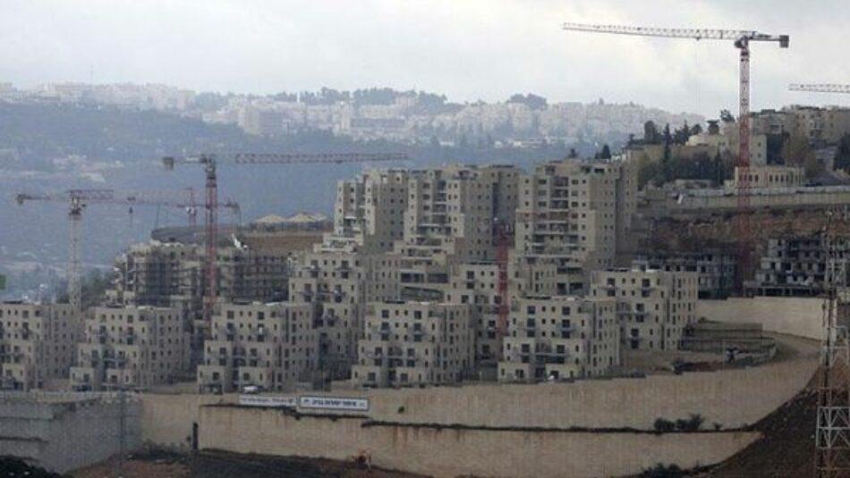 Denuncian que Israel construirá 5.700 asentamientos ilegales en Cisjordania