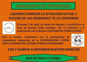 Presentación del Colectivo «Pensionistas Complutenses»