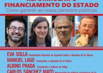 """Carlos Sánchez Mato, Eva Solla, Albino Prada e Manuel Lago imparten na Coruña a conferencia: """"Reformular o financiamento do Estado: como garantir as pensións públicas"""""""