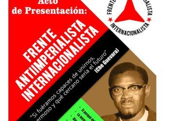 Acto de presentación del Frente Antiimperialisma Internacionalista