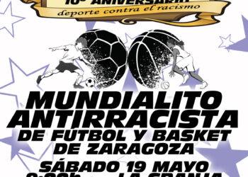 El Mundialito Antirracista de Zaragoza celebrará su décima edición el 19 de mayo
