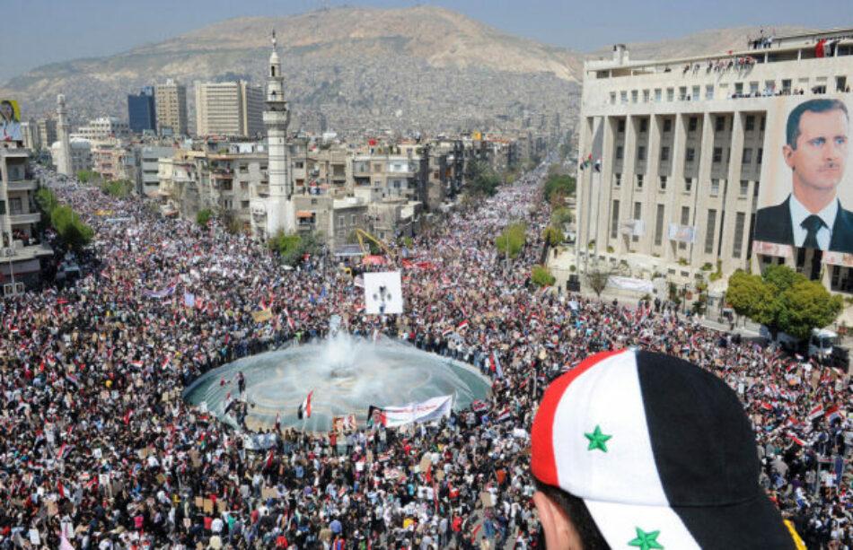 Siria. Marcha multitudinaria repudió los bombardeos de Estados Unidos