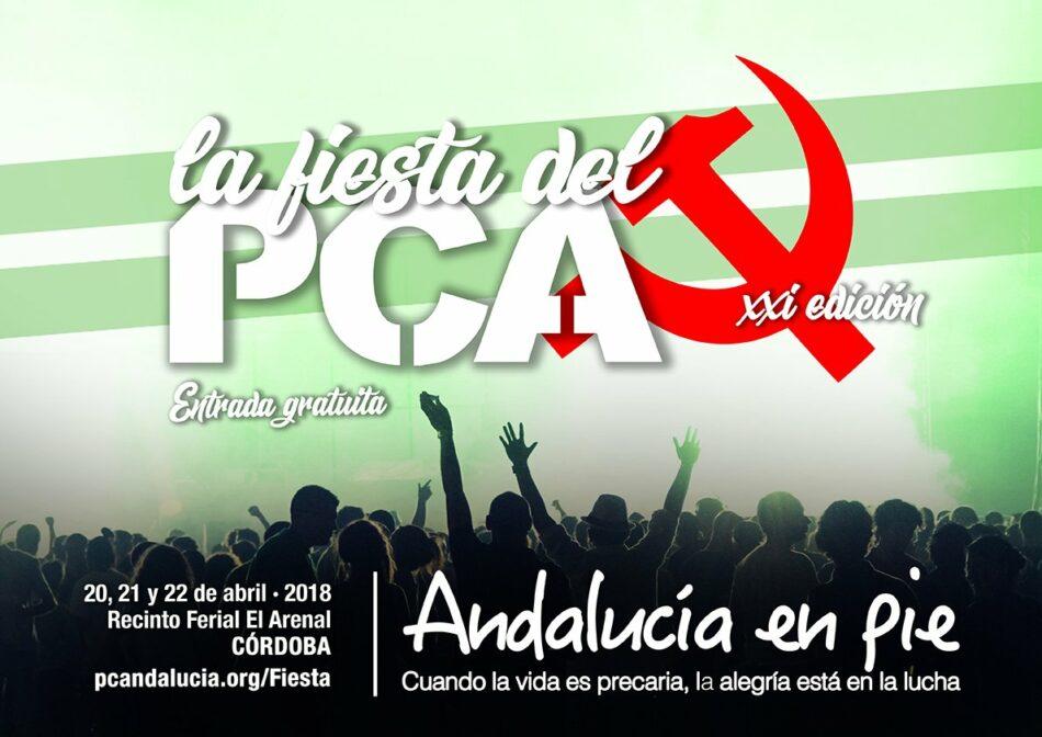 El PCA afronta su fiesta como un hito esencial en la construcción de la unidad popular para «la Andalucía que viene»