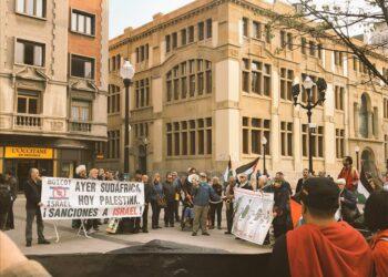 Gijón se manifiesta contra la represión de la Marcha del Retorno en Gaza