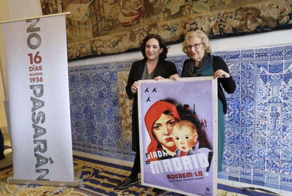 Carmena y Colau presentaron la exposición 'No pasarán. Madrid 1936. 16 días'