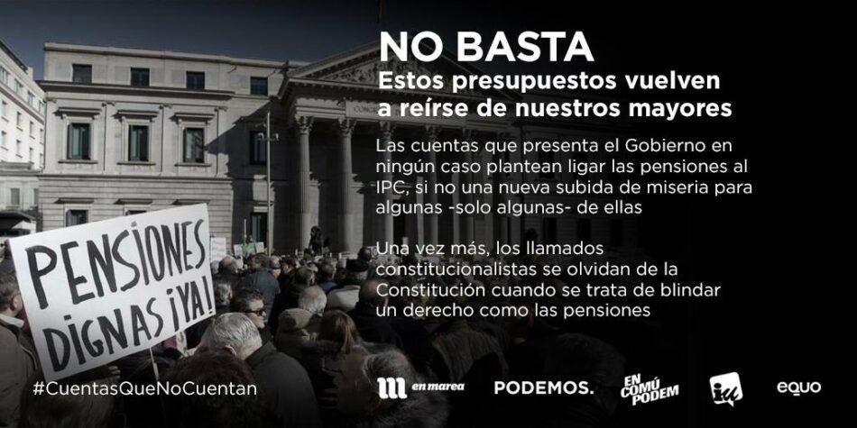 """EQUO considera que los PGE para Andalucía no sólo son insuficientes, sino que además """"erran en los objetivos"""""""