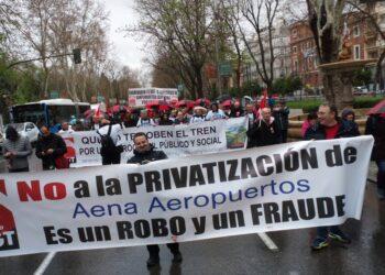Manifestación en defensa de lo Público en Madrid