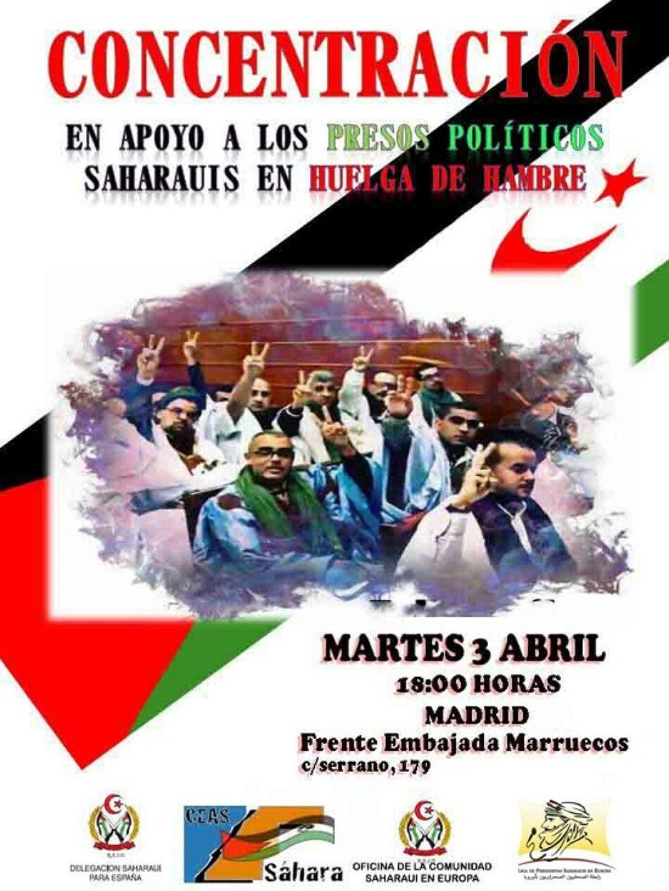 Concentraciones en apoyo a los presos políticos saharauis en huelga de hambre