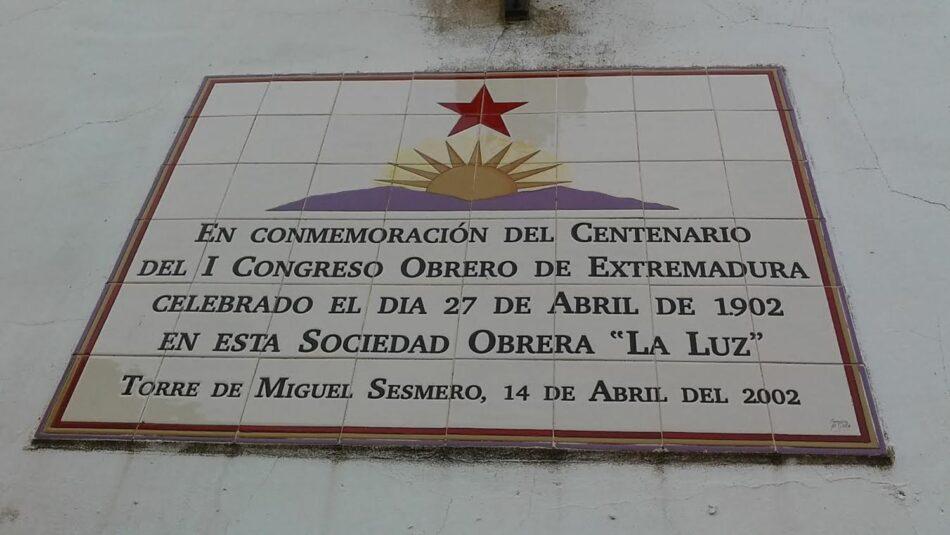La luz de los obreros: Abril de 1902, Primer Congreso Obrero de Extremadura