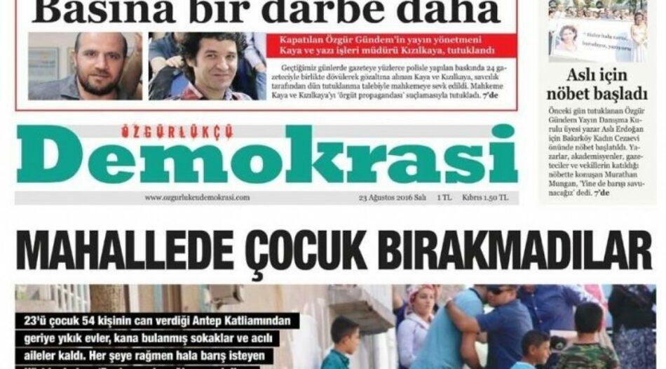 Detenciones salvajes de periodistas en Turquía