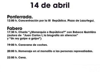 """El Bierzo celebrará la """"primavera republicana"""" este 14 de abril"""