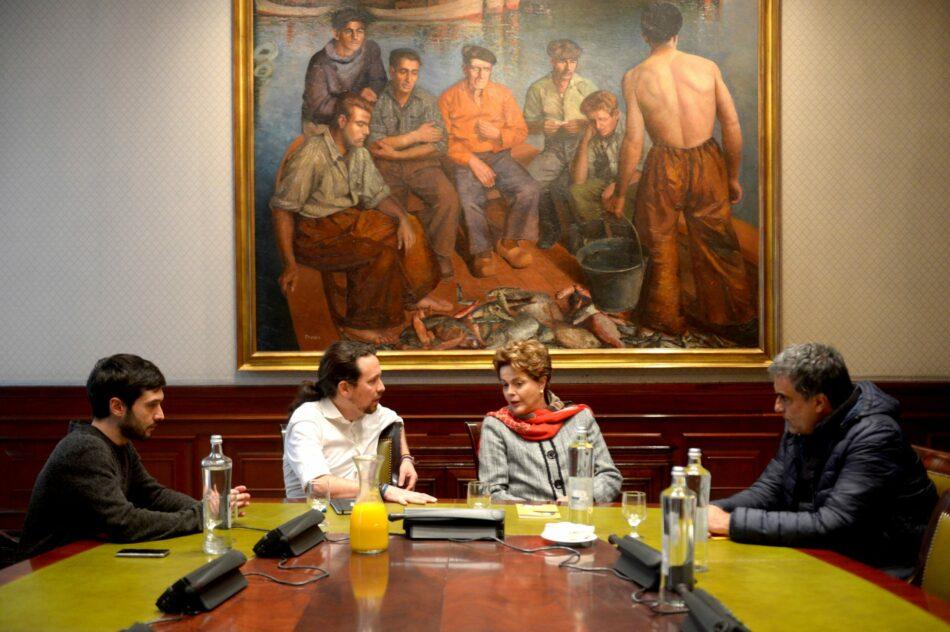 Pablo Iglesias se reúne con la expresidenta de Brasil Dilma Rousseff