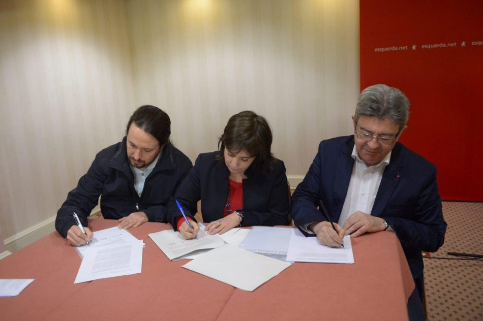 Podemos firma junto con France Insumise y Bloco de Esquerda la declaración de Lisboa por una revolución ciudadana en Europa