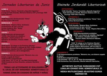 Jornadas Libertarias de Junio, en Durango