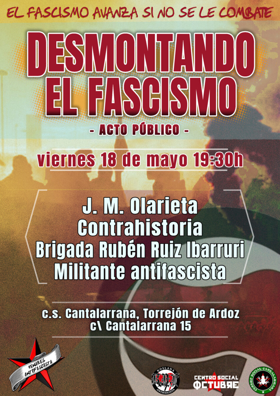 Acto público: «Desmontando el fascismo»