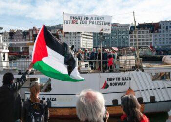 ¡La Flotilla de la Libertad navegando por «Un futuro digno para Palestina»!