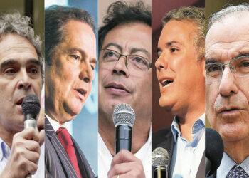 Candidatos presidenciales en Colombia en cierre de campañas