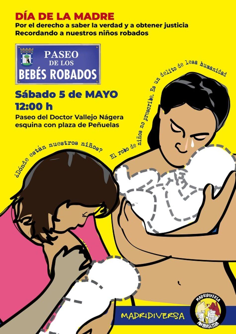 Acto-homenaje y recuerdo a los Bebés robados: ¡Rebautizo del Paseo! por Paseo de los Bebés Robados