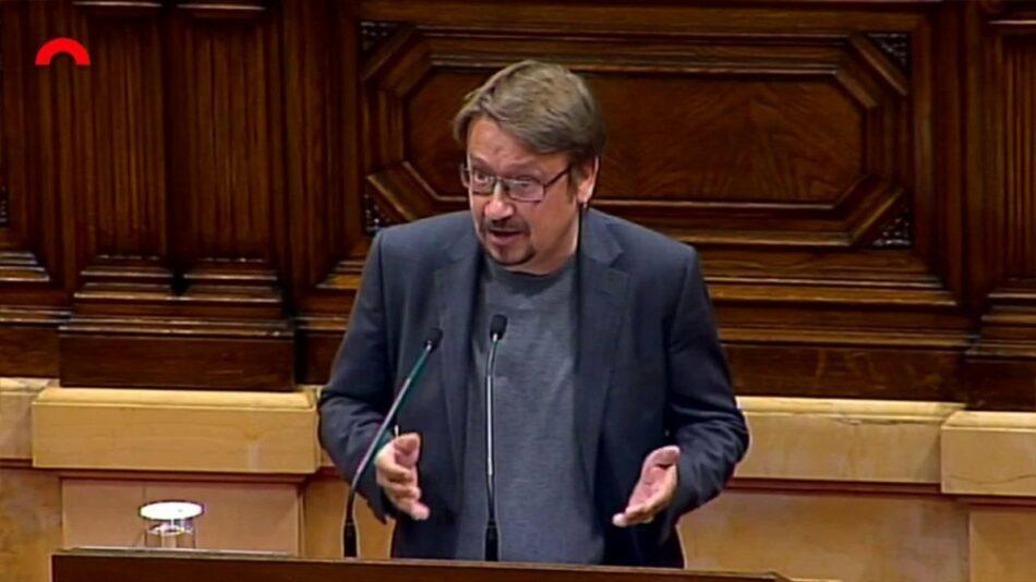 """Domènech acusa el PP de """"delegar les seves responsabilitats"""" en un """"govern dels jutges"""" que """"ens allunya de la solució"""""""