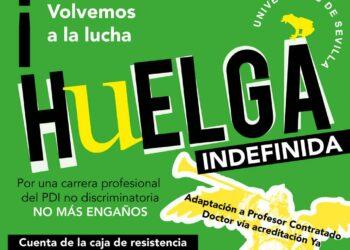 Convocatoria de huelga indefinida en la Universidad de Sevilla para el 28 de mayo