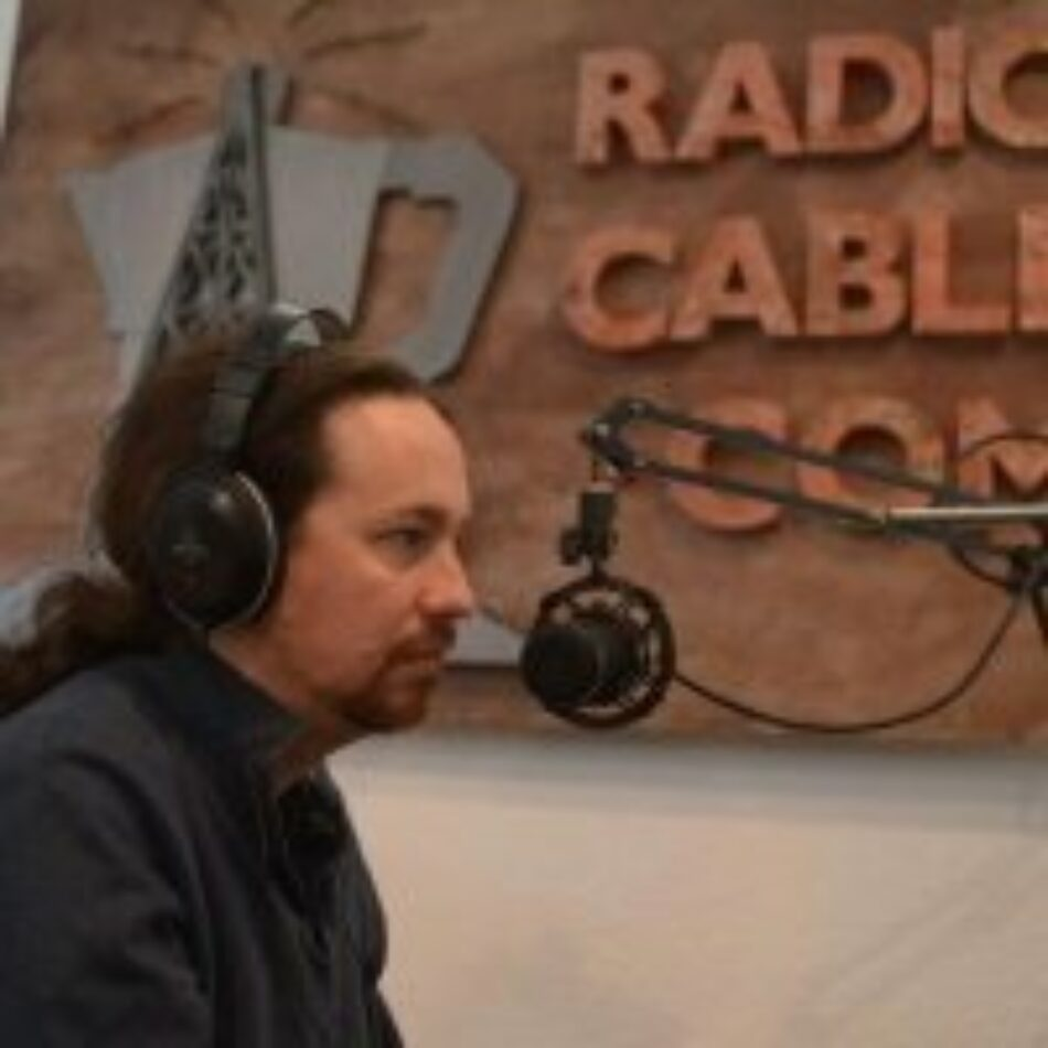 Pablo Iglesias en La Cafetera: «una moción de censura fallida sería un fracaso estrepitoso para Pedro Sánchez»