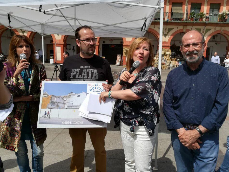 Ganemos y Podemos Córdoba denuncian en un concurso los impuestos que la Iglesia no paga en Córdoba