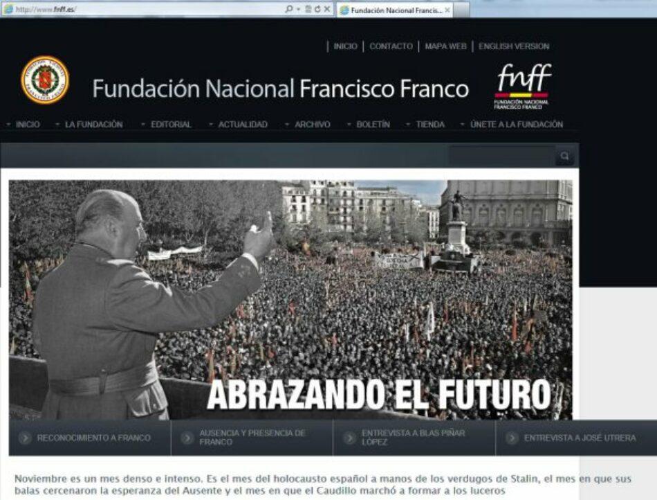 Esquerda Unida amplía a denuncia á Fundación Francisco Franco pola exaltación da figura do ditador e apoloxía do fascismo