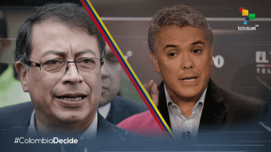 Candidatos Iván Duque y Gustavo Petro van a segunda vuelta electoral en Colombia