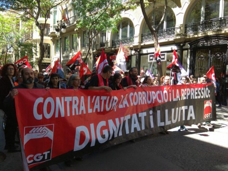 Manifestaciones de la CGT. 1 de Mayo en el País Valencià