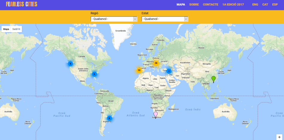 """Les """"Ciutats Sense Por"""" elaboren la primera guia i mapa del moviment municipalista global"""