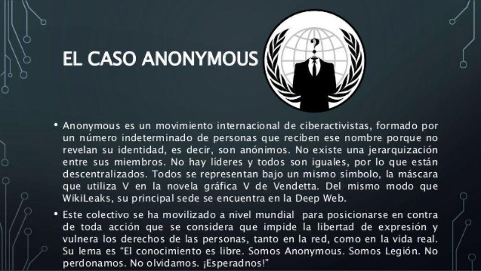 Archivadas las acusaciones contra Anonymous
