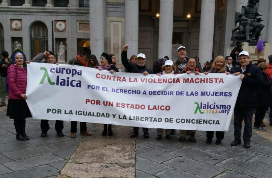 Europa Laica «manifiesta su preocupación por la deriva autoritaria que la democracia española está sufriendo en los últimos tiempos»