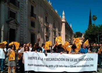 Docentes en precario de la Universidad de Sevilla aprueban ir a la huelga indefinida a partir del 21 de mayo