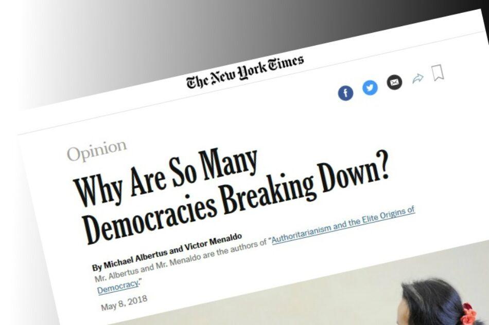 "España, un ejemplo de democracia ""en ruinas"" para New York Times"