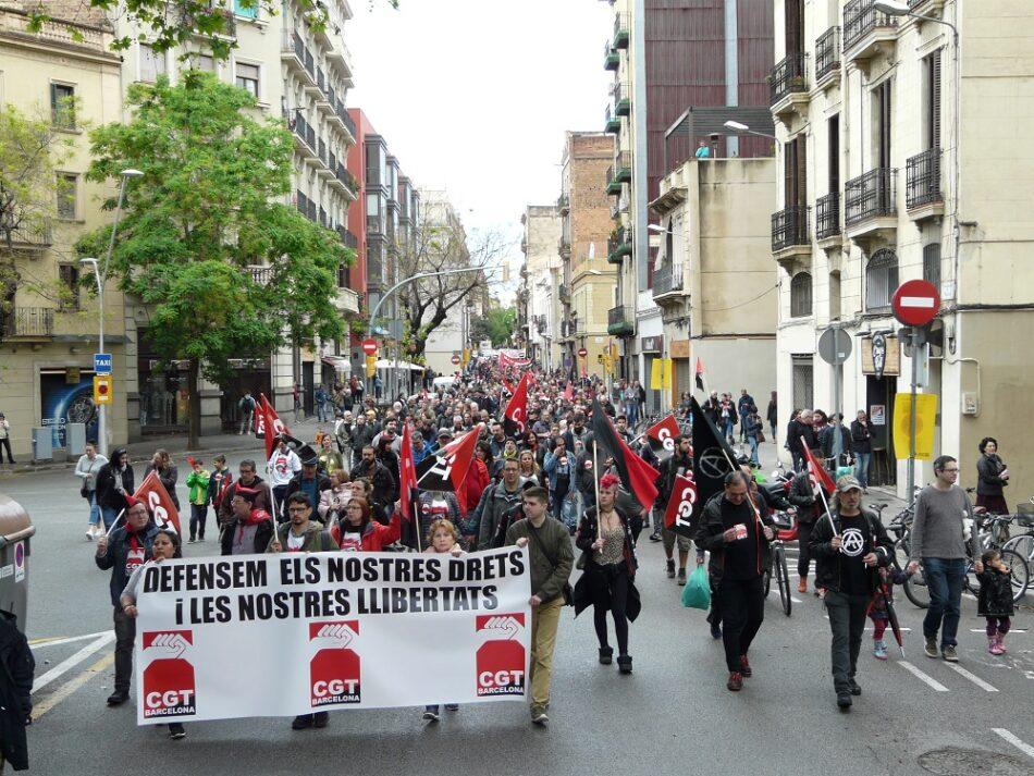 Crónica de la manifestación de CGT el 1 de Mayo en Barcelona