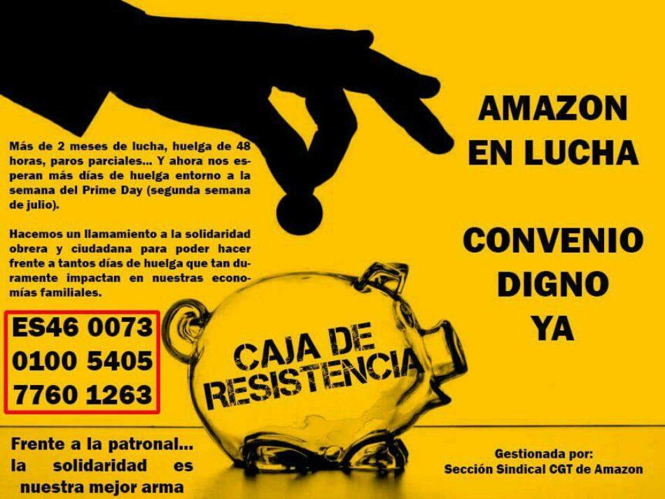 La Caja de Resistencia de la lucha de los trabajadores de Amazon da sus primeros pasos y necesita de vuestro apoyo